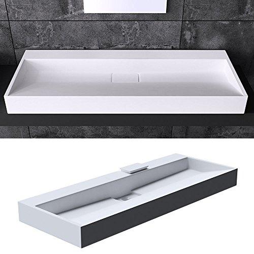 BTH: 70x46x11 cm Design Waschbecken Colossum19, ohne Armaturenloch, aus Gussmarmor, Waschtisch, Waschplatz