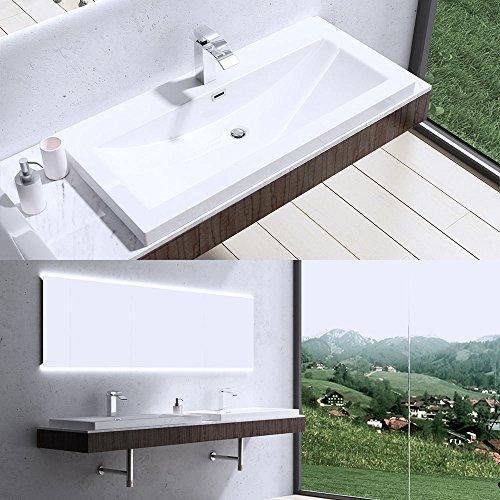 BTH: 76,5x48x13 cm Design Waschbecken Colossum01, aus Gussmarmor, Waschtisch, Waschplatz, Aufsatzwaschbecken