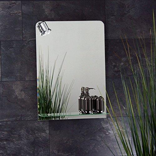 badspiegel beleuchtet mit ablage und 70 x 50 cm m bel24. Black Bedroom Furniture Sets. Home Design Ideas