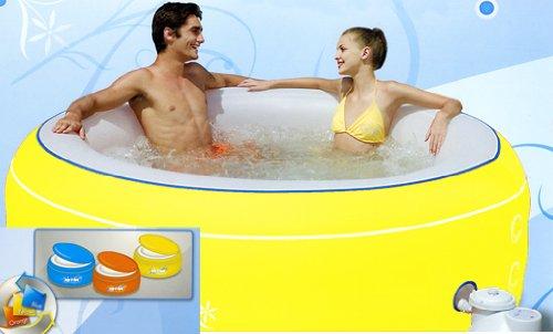 "Bestway 54102 Whirlpool 206 x 71 cm ""Lay-Z-Spa"" gelb NL"