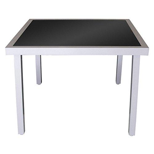 M bel24 bistrotisch gartentisch aluminium glastisch for Glastisch 90x90