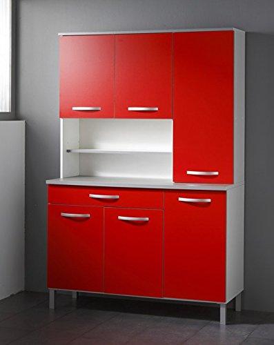 Buffetschrank Season Farbe: Rot / Weiß / Alugrau