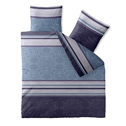 CelinaTex 0002666 Bettwäsche 200 x 200 cm Baumwoll-Renforcé OEKO-TEX Fashion Nicole Blau Lila