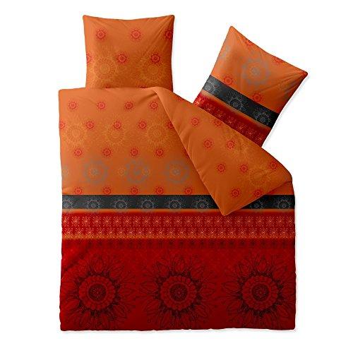 CelinaTex 5000417 Bettwäsche 200 x 200 cm Baumwoll-Renforcé OEKO-TEX Fashion Legra Rot Orange