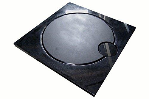 design duschwanne aus naturstein duschtasse granit 90 90cm india black schwarz m bel24. Black Bedroom Furniture Sets. Home Design Ideas