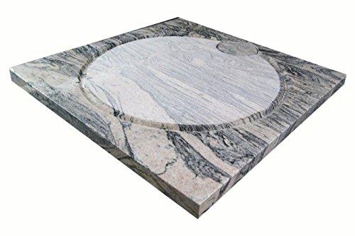 Design Duschwanne aus Naturstein, Duschtasse, Granit, 90*90cm, Juparana