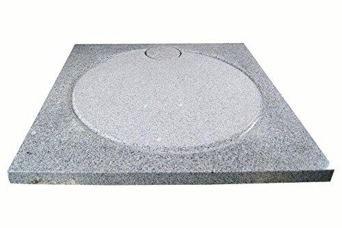 Design Duschwanne aus Naturstein, Duschtasse, Granit, 90*90cm, weiß gesprenkelt