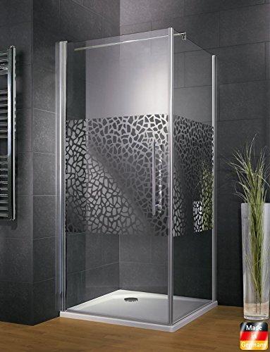 Duschkabine Dusche 80x80 Eckeinstieg Duschabtrennung Glas (ESG) Schulte