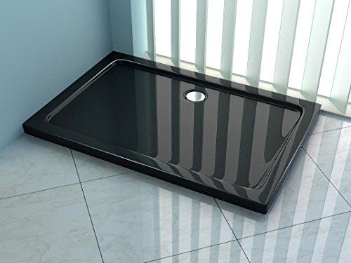 duschwanne schwarz 80x90x5 acryl rechteckig mod ultraflat mit siphon m bel24. Black Bedroom Furniture Sets. Home Design Ideas