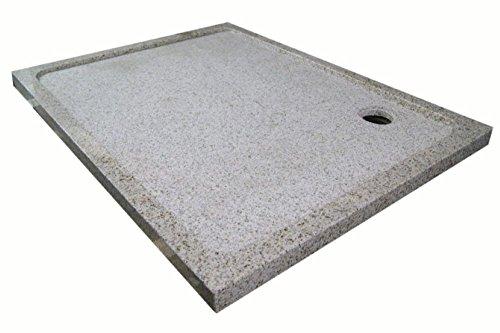 Duschwanne aus Naturstein, Duschtasse, Granit, 120*90cm, gelb gesprenkelt G682