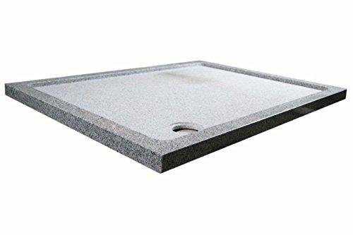 Duschwanne aus Naturstein, Duschtasse, Granit, 120*90cm, weiß gesprenkelt G603