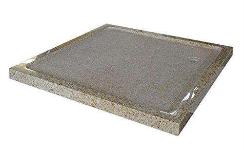 Duschwanne aus Naturstein, Duschtasse, Granit, 90*90cm, gelb gesprenkelt, G682