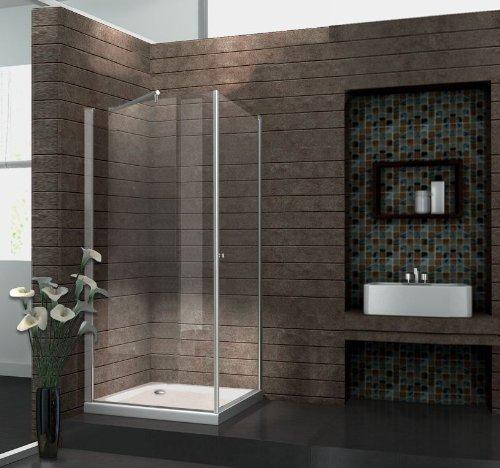 echt glas 8 mm duschkabine duschabtrennung dusche rahmenlos 90 x 90 x 190 cm spa fix ohne. Black Bedroom Furniture Sets. Home Design Ideas