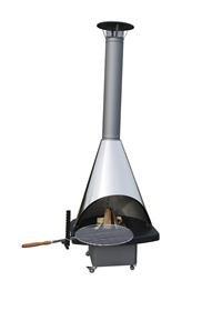 Fireplace Terrassenkamin Edelstahlhaube 85x250x70cm