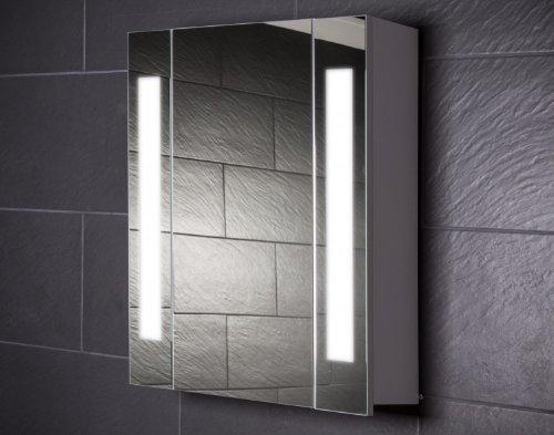 Galdem CURVE60 Spiegelschrank, holz, 60 x 65 x 15 cm, weiß