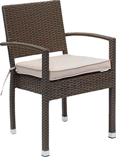 "IB-Style - Set Premium Gartenstühle ""Malaga"" BRAUN | 4 Set-Kombinationen | Polyrattan stapelbar Stapelstuhl Gartenmöbel Gartengarnitur Gartenset Rattan Gartengruppe - 8er Set"