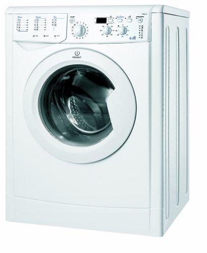 Indesit IWDD 6145 (EU) Waschtrockner / BA / 1400 UpM / Waschen: 6 kg / Trocknen: 5 kg / Eco Time / Mengenautomatik / weiß