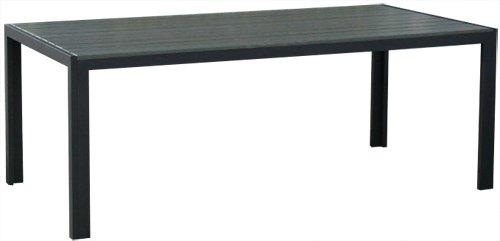 KMH®, Dunkelgrauer Holzimitat-Tisch (205 x 90 cm) (#106100)
