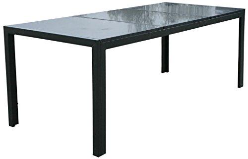 "KMH®, Gartentisch ""Jeffry"" mit 3 massiven Granitplatten (poliert) (208 x 90) (#103054)"
