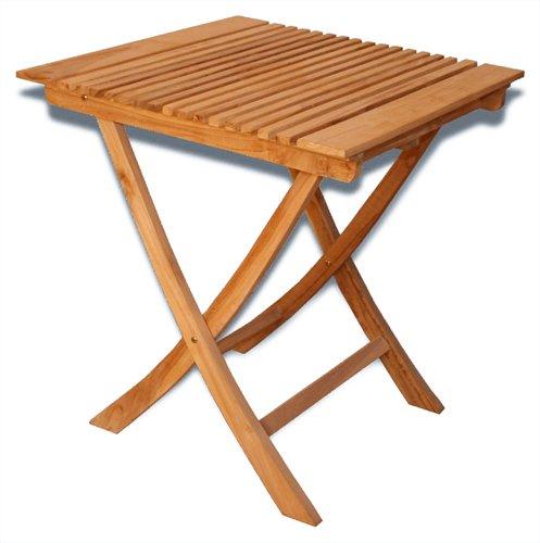 KMH®, Klapp-Tisch aus echtem Teakholz (70 x 70 cm) (#102076)