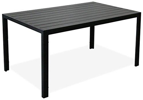 """KMH®, Schöner schwarzer Holzimitat-Tisch """"Tuco"""" (150 x 90) (#106036)"""