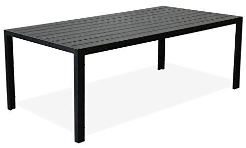 """KMH®, Schöner schwarzer Holzimitat-Tisch """"Tuco"""" (205 x 90) (#106132)"""
