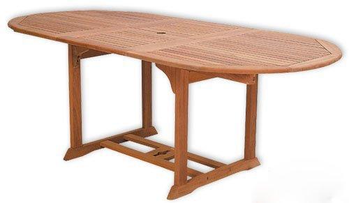 KMH®, ausziehbarer Gartentisch 170-230*100 cm (Eukalyptus) (#101161)