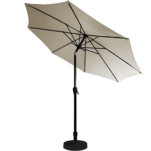 kurbel sonnenschirm 3m h2 5m gartenschirm aluminium kurbelschirm sonnenschutz taupe m bel24. Black Bedroom Furniture Sets. Home Design Ideas