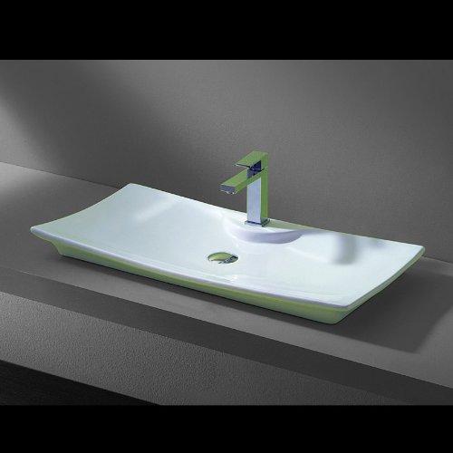 Lux-aqua Design Waschtisch Keramik Waschbecken 4277B