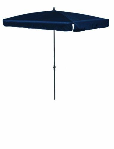 Madison Balkonschirm 210 x 140 höhenverstellbar in dunkelblau mit UV-Schutz 40 Plus