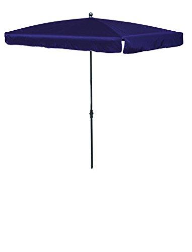 Madison Balkonschirm 210 x 140 höhenverstellbar in lila mit UV-Schutz 40 Plus