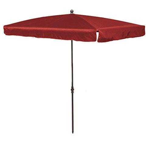 Madison Balkonschirm 210 x 140 höhenverstellbar in rot mit UV-Schutz 40 Plus