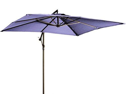 """Madison Hochwertiger Ampelschirm """"Madera 250x250"""" in lila, neigbar, 360 Grad drehbar, UV-Schutz 40 PLUS, quadratisch"""