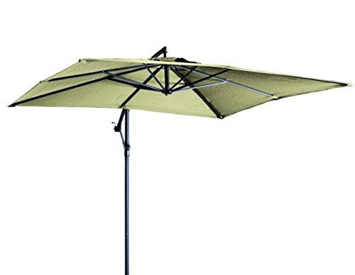 """Madison Hochwertiger Ampelschirm """"Madera 250x250"""" in natur ecru, neigbar, 360 Grad drehbar, UV-Schutz 40 PLUS, quadratisch"""