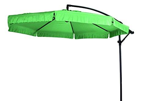 """Madison Hochwertiger Ampelschirm """"Madera 300"""" in apfelgrün, neigbar, 360 Grad drehbar, UV-Schutz 40 PLUS"""