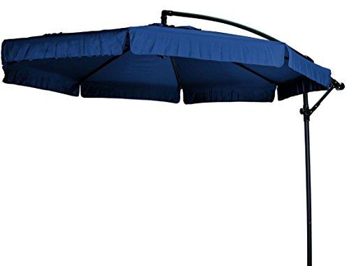 """Madison Hochwertiger Ampelschirm """"Madera 300"""" in dunkelblau, neigbar, 360 Grad drehbar, UV-Schutz 40 PLUS"""