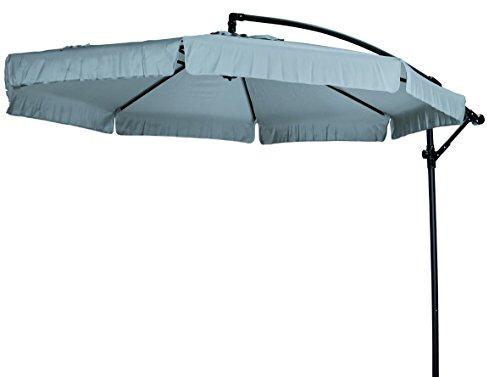 """Madison Hochwertiger Ampelschirm """"Madera 300"""" in grau, neigbar, 360 Grad drehbar, UV-Schutz 40 PLUS"""