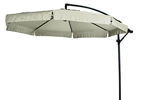 """Madison Hochwertiger Ampelschirm """"Madera 300"""" in natur ecru, neigbar, 360 Grad drehbar, UV-Schutz 40 PLUS"""