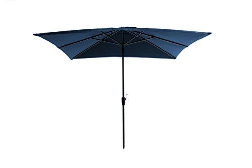 Madison Kurbelschirm Rhodos 280 x 280 quadratisch blau mit UV-Schutz 40 Plus dunkelblau