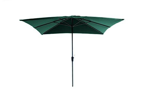 Madison Kurbelschirm Rhodos 280 x 280 quadratisch grün mit UV-Schutz 40 Plus dunkelgrün