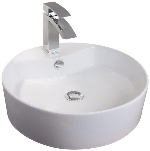 Mebasa MYBAW03 Cuneo Aufsatzwaschtisch Aufsatzwaschbecken Waschtisch Waschbecken, Montage stehend, weiß