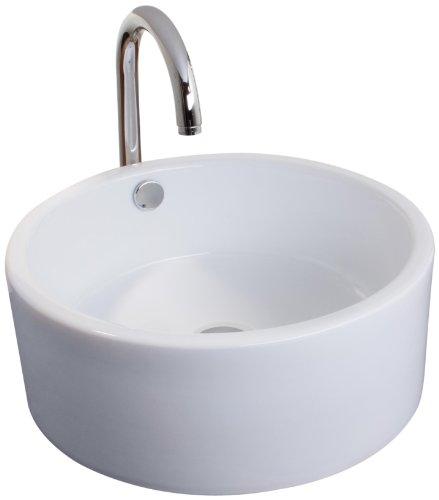 Mebasa MYBAW04 Novara Aufsatzwaschtisch Aufsatzwaschbecken Waschtisch Waschbecken, Montage stehend, weiß