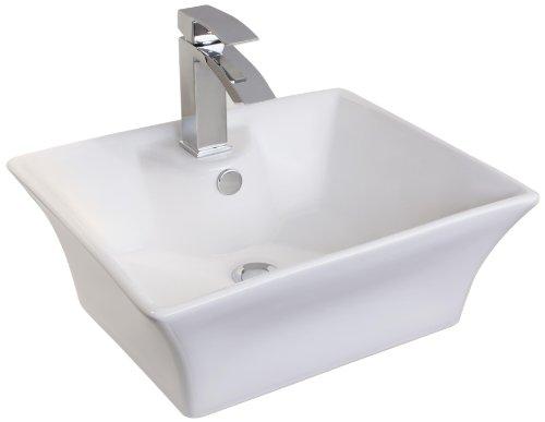 Mebasa MYBAW05 Vercelli Aufsatzwaschtisch Aufsatzwaschbecken Waschtisch Waschbecken, Montage stehend, weiß