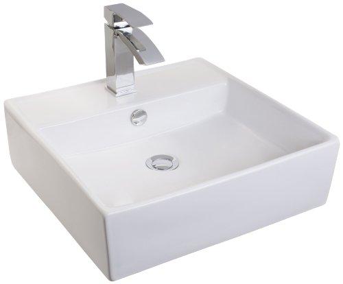 Mebasa MYBAW06 Messina Aufsatzwaschtisch Aufsatzwaschbecken Waschtisch Waschbecken, Montage stehend oder Wand hängend, weiß