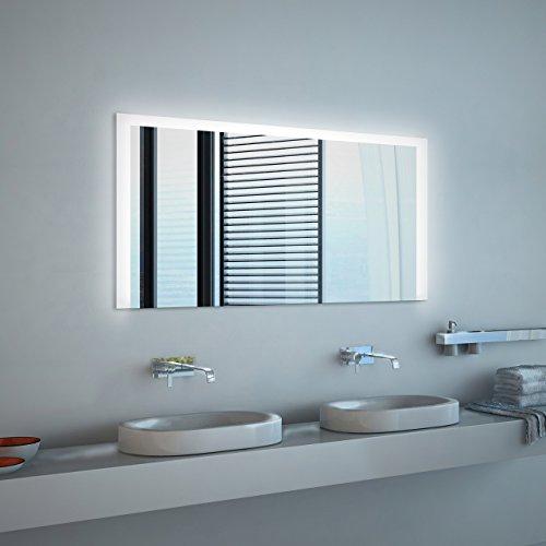 Noemi - LED Badspiegel mit Beleuchtung - (B) 90 cm x (H) 70 cm