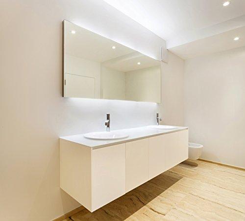 Olbia - NEON Badspiegel mit Beleuchtung - (B) 130 cm x (H) 70 cm