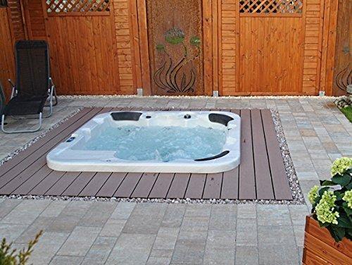 Outdoor Whirlpool Hot Tub Venedig mit 40 Massage Düsen + Heizung + Ozon Desinfektion + Unterwasser Licht für 5 - 6 Personen für Außen