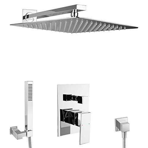 paulgurkes design regendusche komplett set eckig unterputz duschset mit 40 cm edelstahlduschkopf. Black Bedroom Furniture Sets. Home Design Ideas