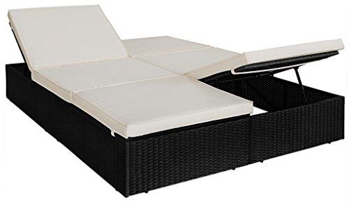 polyrattan doppel sonnenliege liege doppelliege gartenliege relaxliege lounge rattan m bel24. Black Bedroom Furniture Sets. Home Design Ideas