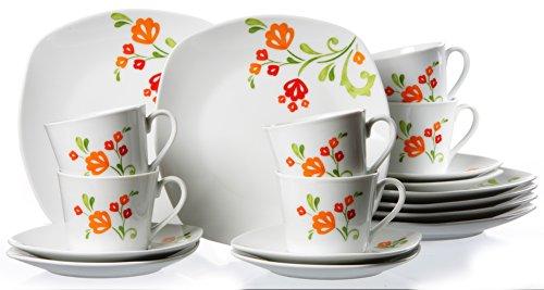 Ritzenhoff & Breker 033915 Kaffeeservice Fanny, 18-teilig
